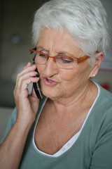 Senior woman on a cellphone