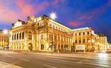 Fototapety Vienna  State Opera House at night, Austria, Theater