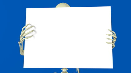 animated skeleton for your message