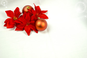 Seasonal background with Christmas decorations