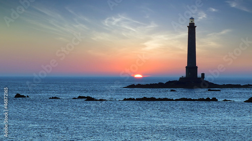 Lighthouse during sunset..