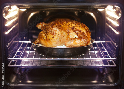 Poster turkey is baked in oven