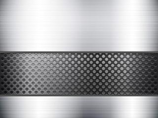 metallic sheet and grid