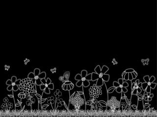 White Cartoon Flowers