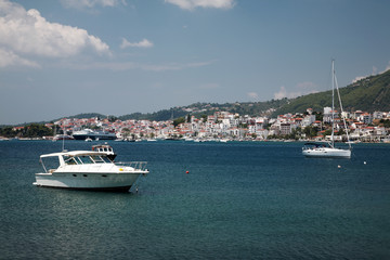 View to Skiathos Town