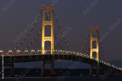 Big Mackinac Bridge Evening