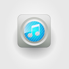 User interface music icon