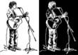 Sketch og guitarist