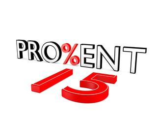 Prozent 15 - Angebot - 3D