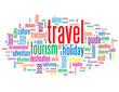 """TRAVEL"" Tag Cloud (tourism holidays transport guide break life)"