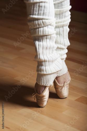 Füße einer Balletttänzerin