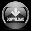 download round gray web icon on black background