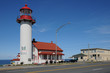 Quebec, the lighthouse of Matane in Gaspesie