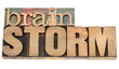 brainstorm word in wood type