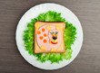 design food. Creative sandwich for child with  picture little pu