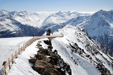 landscape of Austrian Alps