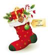 Nikolaus Geschenk mit Grußkarte