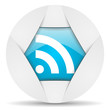 rss round blue web icon on white background