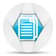 document round blue web icon on white background
