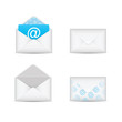 Set of e-mail and envelope icons vector eps10