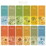2013 English Calendar Set. Weeks start with Monday.