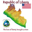 Liberia Africa national emblem map symbol motto