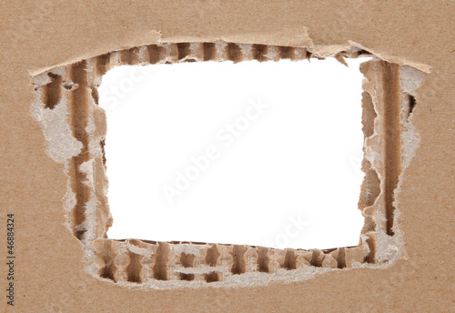 Cardboard frame with rough edges