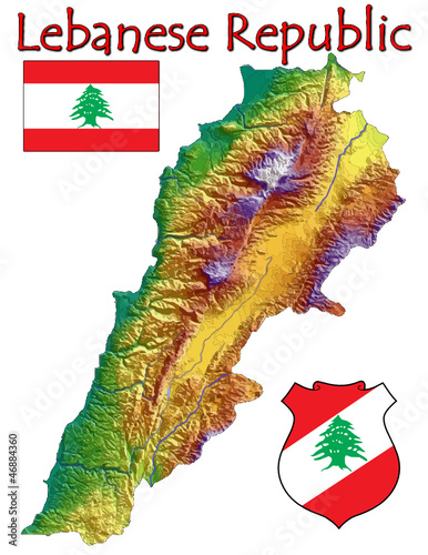 Lebanon Asia national emblem map symbol motto