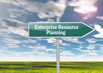 "Signpost ""Enterprise Resource Planning"""