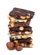 stack of nut chocolate