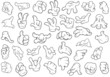 Hand Gestures - Vector Illustration