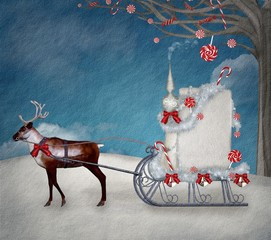 Magic christmas sleigh