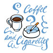 Coffee and Cigarettes drink smoking cafe ashtray