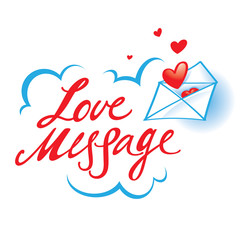 Love Message confession paper envelope red heart