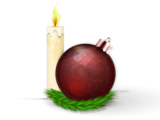 red fir-tree sphere with candie