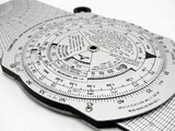 Professional pilot's vintage wizz wheel. E6B. Flight calculator.