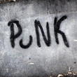 Punk graffiti, wall writing