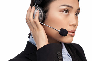 Asian call centre operator