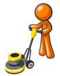 Orange Man Floor Buffer