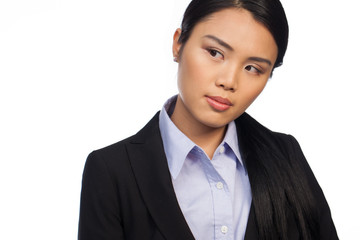 Serious young professional Asian woman