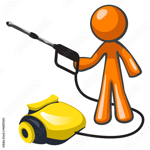 Orange Man Pressure Washer