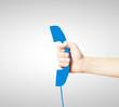 blue handset sign