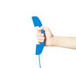 blue handset symbol