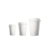 three disposable cup