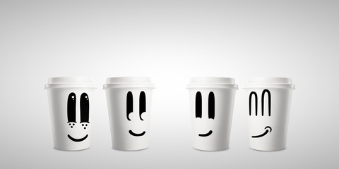 four happy  cup