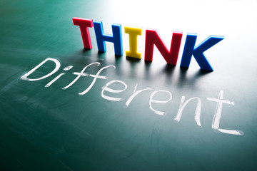 Think different concept