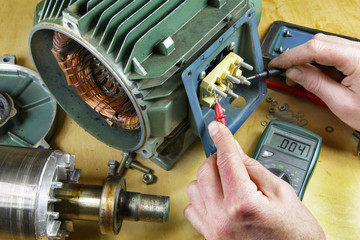 continuity testing electric motor