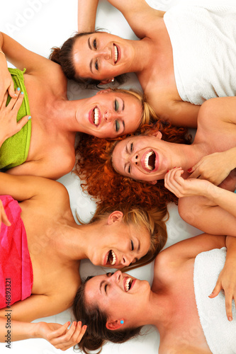 canvas print picture Girls in spa