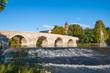 Leinwanddruck Bild - alte Lahnbrücke