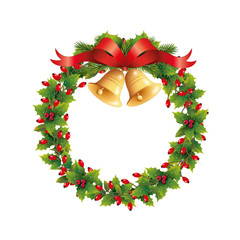 Hagebuttenkranz mit Weihnachtsglocken